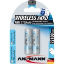 "Ansmann ""maxE Wireless Mouse & Keyboard"" NiMH-Akku, Mignon (AA), 2100mAh, 2er Blister (5035483)"