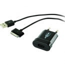 Ansmann USB charger 1A, 5V/1A + Apple Dock USB Kabel (1001-0008)