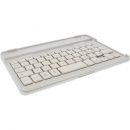 InLine� Bluetooth Tastatur + Alu-Cover f�r iPad mini, wei�