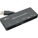 InLine® Card Reader, USB 3.0, all in 1, schwarz