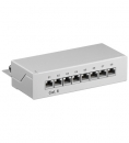 NET PATCH PANEL CAT6  8 PORT BEIGE